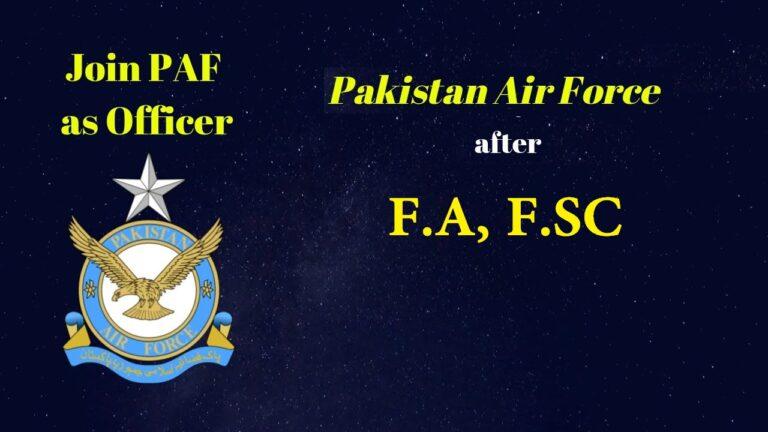 Join PAF After FA, FSC