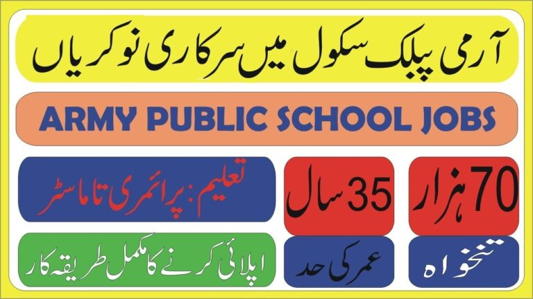 Army Public School APS Jobs