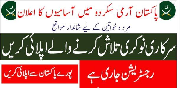 Pak Army Garrison HRDC Skardu Jobs