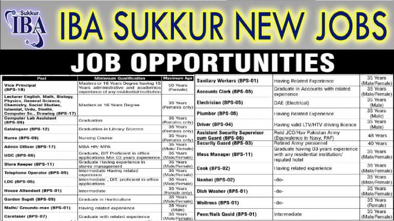 Sukkur IBA Jobs 2021
