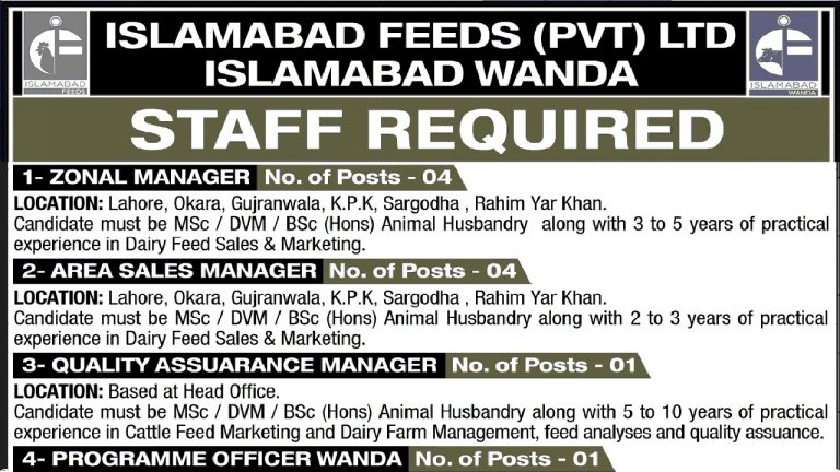 Islamabad Feeds Private Limited Jobs 2021 Apply Online